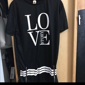 Dresses & Skirts - NWT XL mini dress love story black/white